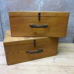 set oude kisten koffers