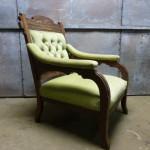 Victoriaanse stoel eiken