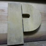 letter P art deco
