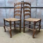 Ladderback stoelen
