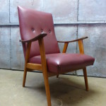 Lounge stoel armstoel vintage retro