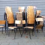schoolstoelen stapelstoelen