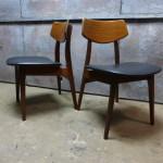 set vintage stoelen