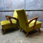 set fauteuil midcentury