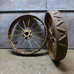 oude stalen wielen