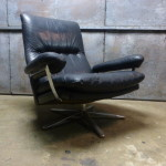 vintage design lounge chair leer leder