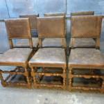 lederen antieke stoelen