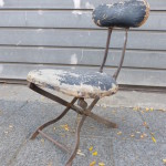 antiek frans werkstoeltje