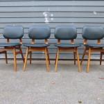 Pastoe vintage eetkamer stoelen set stoelen