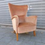 Vintage fauteuil retro design roze clubchair