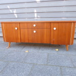 vintage sideboard tv meubel teak design retro