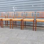 design teak vintage stoelen set