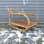 Vintage rotan trolley retro design