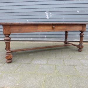 Antieke tafel eiken patina 19e eeuw zwaar