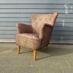 Vintage cocktailstoel armstoel clubchair
