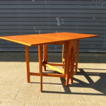 Vintage tafel inklapbaar retro teak design