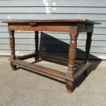 antieke eiken tafel sidetable bureau geleefd patina