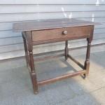 antiek eiken tafel bureau sidetable oud patina