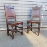 antieke eiken stoelen