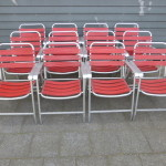 Vintage design aluminium klapstoelen