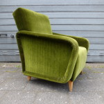 vintage armstoel fauteuil groen