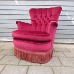 vintage retro fauteuil rood design