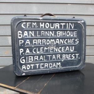 oude bootkoffer reiskoffer