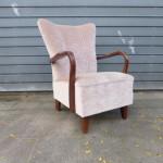 roze vintage fauteuil design retro