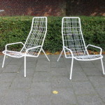 Vintage tuinstoelen lounge chairs